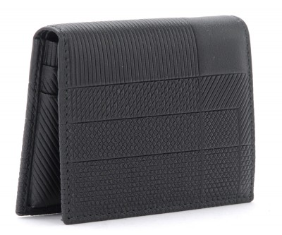 Laterale Comme Des Garçons wallet Intersection model in black leather