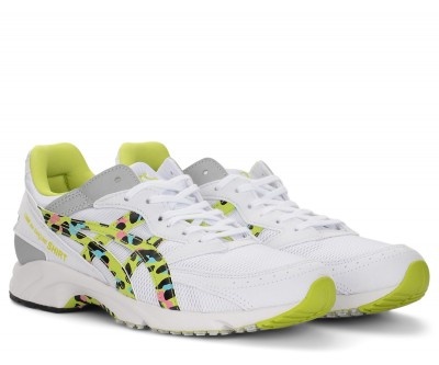 Laterale Sneakers Comme Des Garcons Shirt x Asics in mesh giallo multicolor