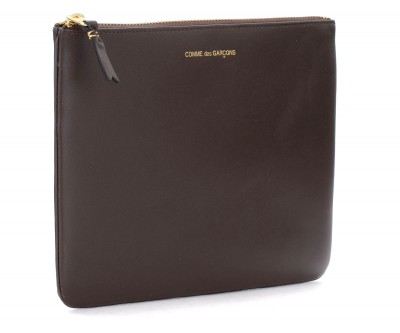 Laterale Comme des Garçons Wallet pouch in brown leather