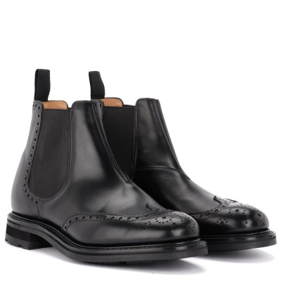 Laterale Beatles Church's Coldbury shoe in black brushed calf leather