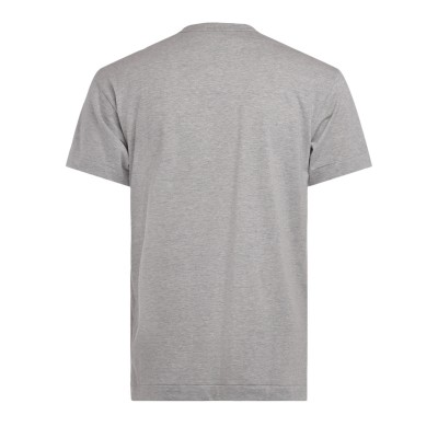Laterale Comme Des Garçons PLAY men's t-shirt made of gray cotton with an empty heart