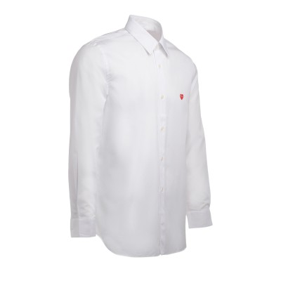 Laterale Comme Des Garcons PLAY shirt in white cotton with mini heart