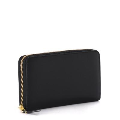 Laterale Comme des Garçons black leather wallet