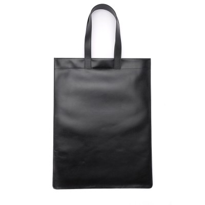 Laterale Comme Des Garçons shopping bag in black leather