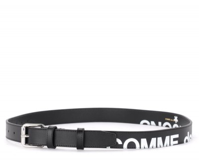 Laterale Comme des Garçons Wallet belt Huge model Logo in black leather