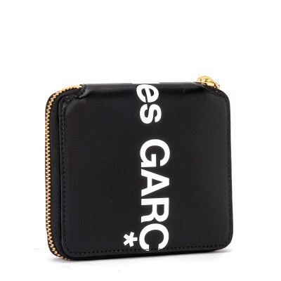 Laterale Comme Des Garçons Wallet Huge Logo wallet in black leather
