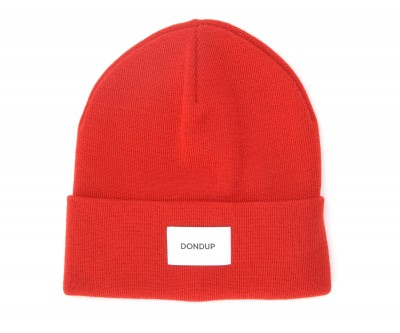 Laterale Dondup cap in red wool blend