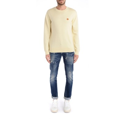 Laterale Jeans DonDup Ritchie blu scuro con rotture