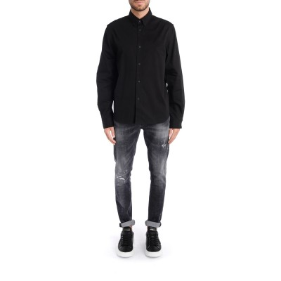 Laterale Kenzo Tiger Krest shirt in black cotton