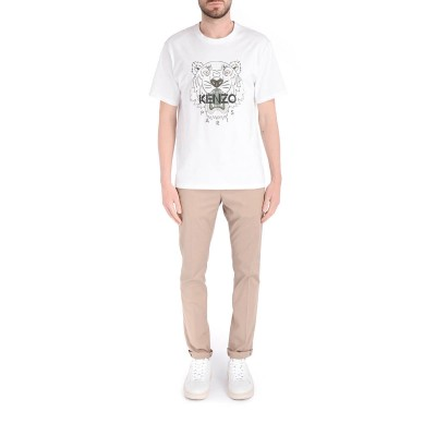 Laterale Dondup Gaubert slim trousers in beige cotton