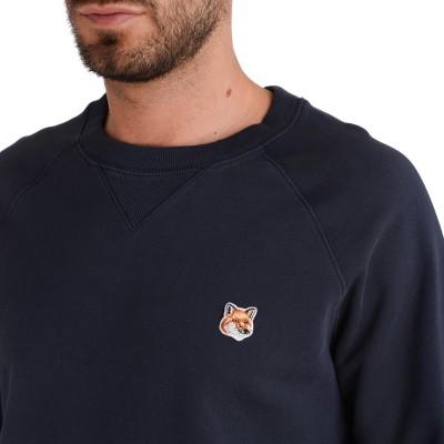 Laterale Maison Kitsuné Fox Head sweatshirt in navy blue