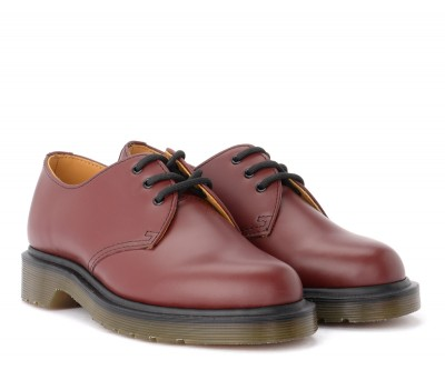 Laterale MARTENS 3 EYELET LEATHER LACE-UP