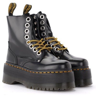 Laterale Dr. Martens Jadon Max combat boot made of black leather