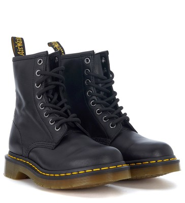 Laterale Dr. Martens 8 fori black nappa leather ankle boots