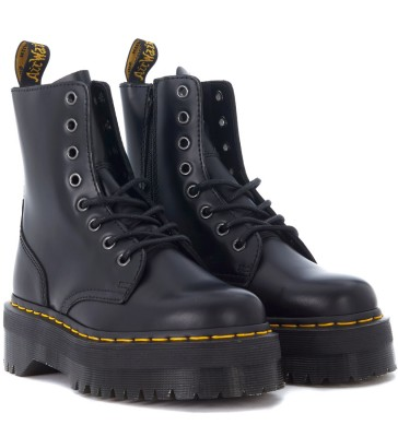 Laterale Dr. Martens Jadon black leather ankle boots with maxi grip fast sole