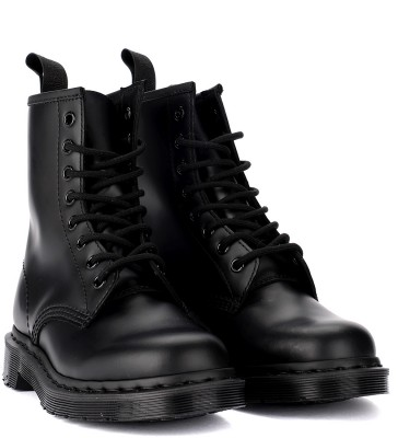 Laterale Dr. Martens 1460 Mono black leather ankle boots