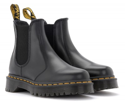 Laterale Dr. Martens 2976 Bex Smooth combat boot in black leather