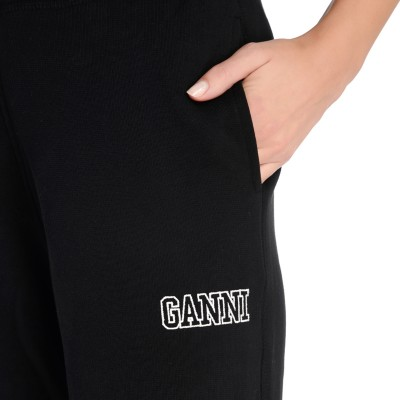 Laterale Ganni Software black jogging trousers