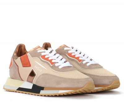 Laterale Ghoud Rush trainer in mesh and beige suede