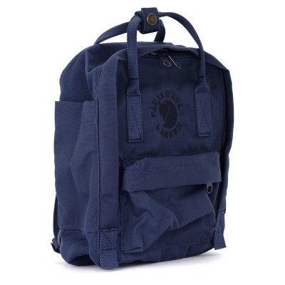 Laterale Re-Kånken by Fjällräven Mini blue backpack with front pocket