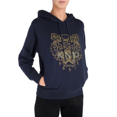 Laterale Kenzo Tiger women's sweatshirt blue with yellow tiger