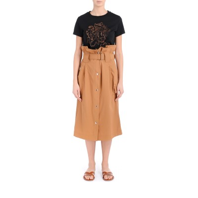 Laterale Mustard high waisted  Kenzo skirt with big side pockets