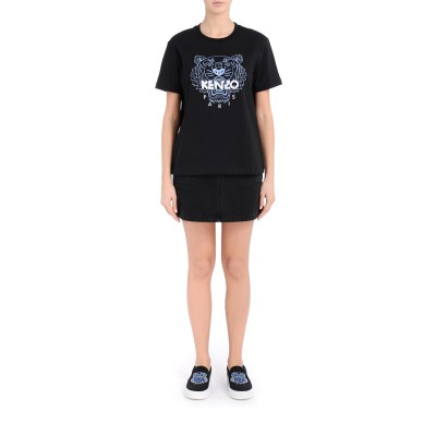 Laterale T-shirt over Kenzo Loose Tiger nera