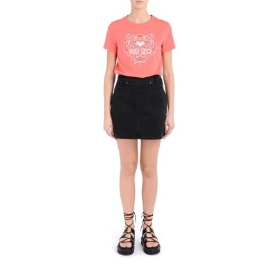 Laterale Coral Kenzo Tiger T-shirt with white print