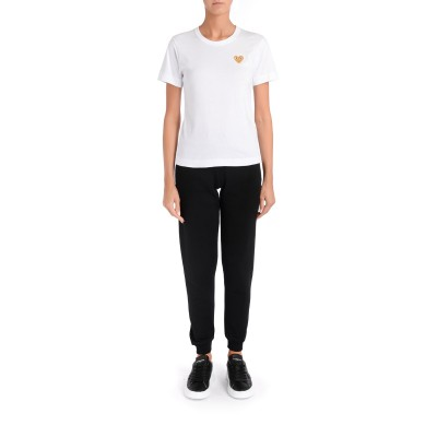 Laterale Comme des Garçons Play women's white t-shirt with gold heart