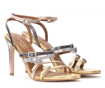 Laterale Kurt Geiger Pierra sandals in laminated leather