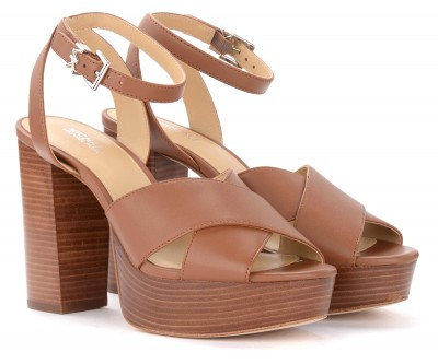 Laterale Michael Kors Odette heeled sandals in tan leather