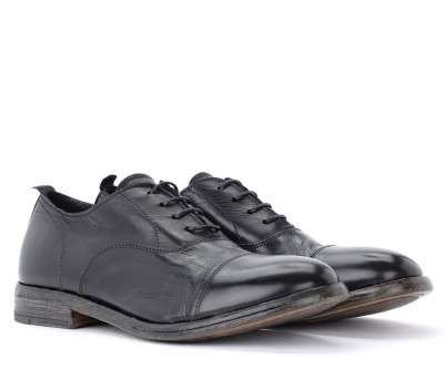 Laterale Black Moma Capalbio lace-up shoe in leather