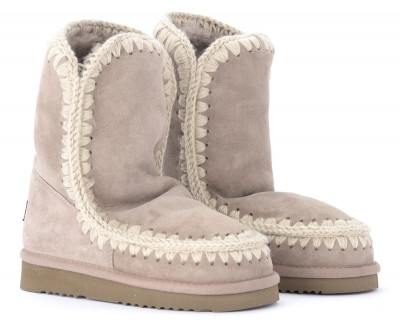 Laterale Mou Eskimo 24 boot in warm gray double face sheepskin
