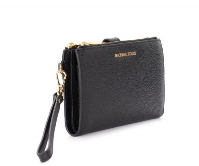 Laterale Michael Kors wristlet in black grained leather