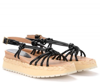 Laterale Paloma Barceló Acara sandals in black leather