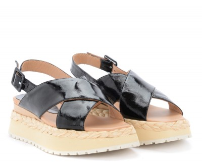 Laterale Paloma Barceló Anambei sandals in black leather