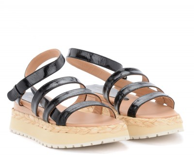 Laterale Paloma Barceló Abacaxis sandals in black leather