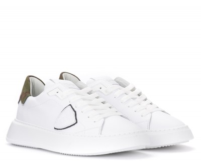 Laterale Philippe Model Temple sneakers in white leather and camouflage print