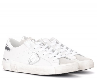 Laterale White and silver Philippe Model Paris X sneakers