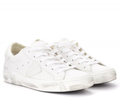 Laterale Philippe Model Paris X model sneakers in white goatskin