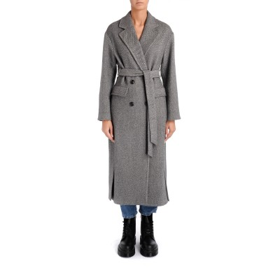 Laterale Pinko grey cloth dressing gown coat