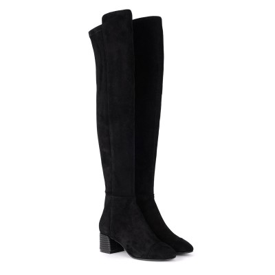 Laterale Tory Burch Nina black suede boots