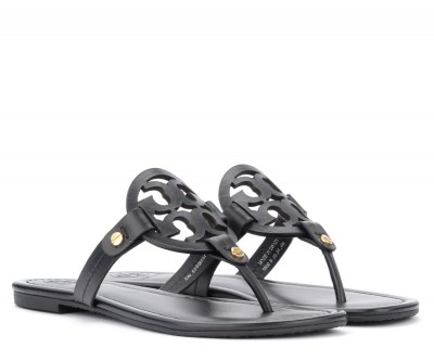 Laterale Tory Burch Miller black leather sandal