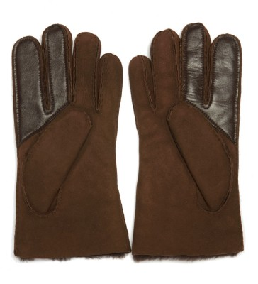 Laterale Ugg brown suede gloves