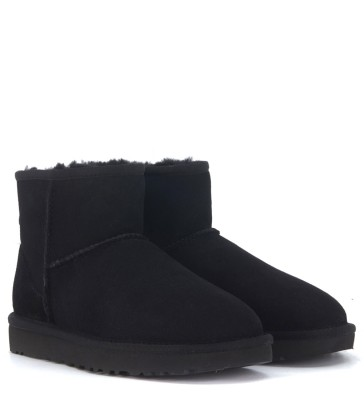 Laterale UGG Classic II Mini ankle boots in black suede
