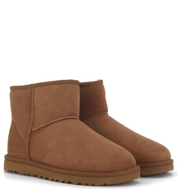 Laterale Tronchetto UGG Classic II Mini marrone in montone