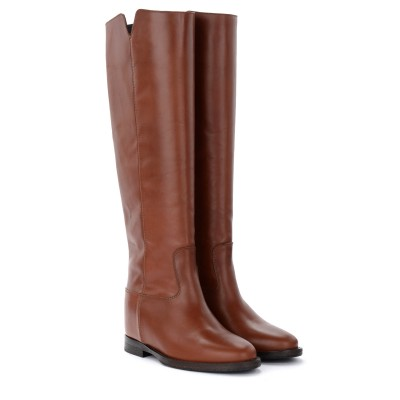 Laterale Via Roma 15 boot in brown leather