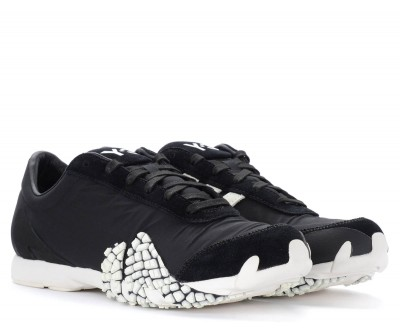Laterale Y-3 Rehito sneakers in black technical fabric