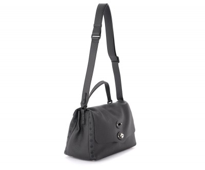 Laterale Zanellato Pure S Postel bag in hammered black leather
