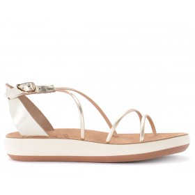 Ancient Greek sandal Anastasia model in golden leather